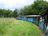 Riding on the miniture railway at Etal