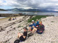 Picnic on the beach at Port Appin